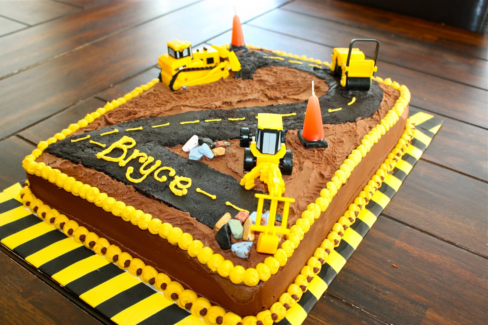10 Number 3 Construction Sheet Cakes Photo Construction Birthday