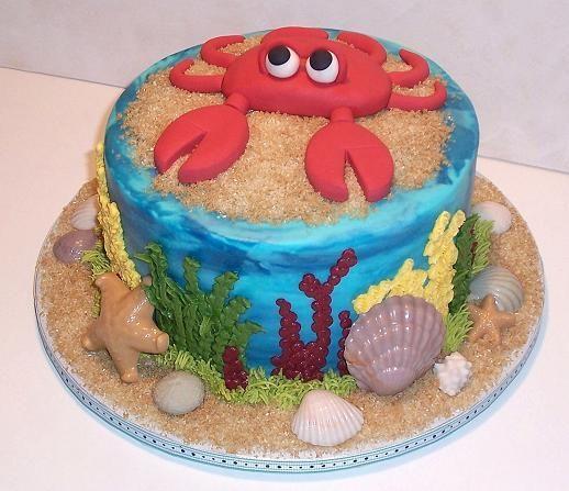 Fine 11 Crab Birthday Sheet Cakes Photo Crab Birthday Cake Crab Funny Birthday Cards Online Necthendildamsfinfo
