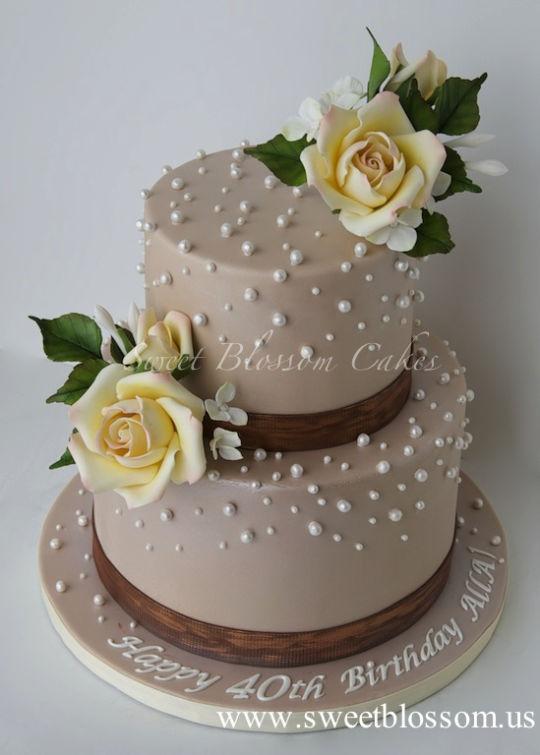 Elegant 40th Birthday Cakes