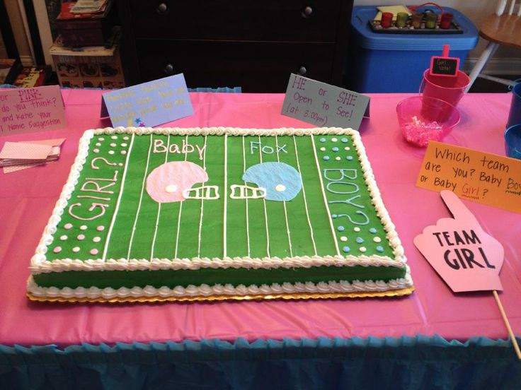 11 Football Theme Gender Reveal Cakes Photo