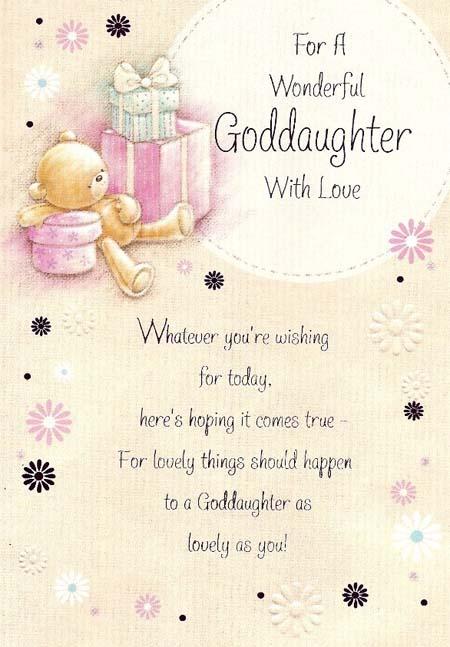 Happy Birthday Goddaughter Wishes