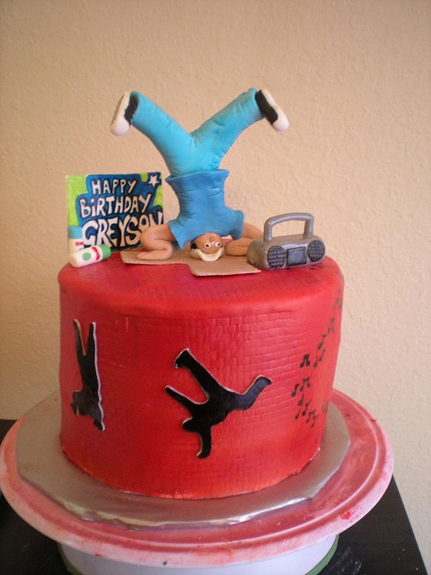 Wondrous 10 Breakdance Birthday Cakes Photo Hip Hop Dance Birthday Cake Funny Birthday Cards Online Inifodamsfinfo