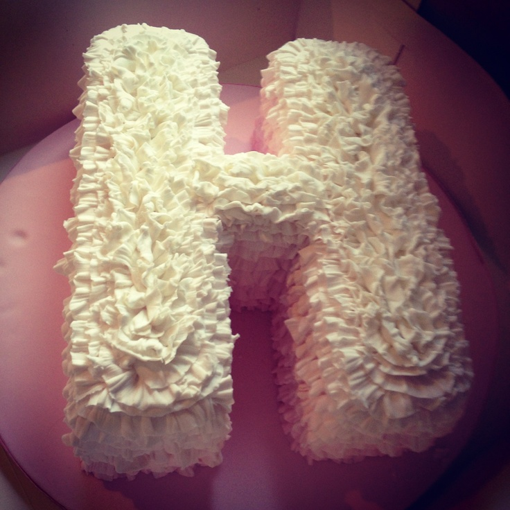 12 Birthday Cakes Shaped Like Letters Photo Letter Shaped Cake