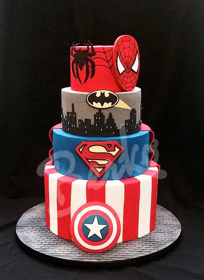 13 Robin Dc Comic Cakes Photo Superman And Wonder Woman Cake Dc