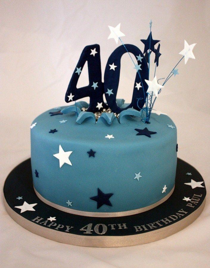 Astonishing 13 40Th Birthday Cakes For Men Photo Men 40Th Birthday Cake Personalised Birthday Cards Paralily Jamesorg