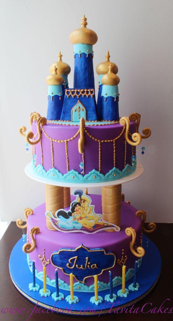 Fabulous 13 Aladin Themed Cakes Photo Aladdin Themed Wedding Princess Personalised Birthday Cards Petedlily Jamesorg
