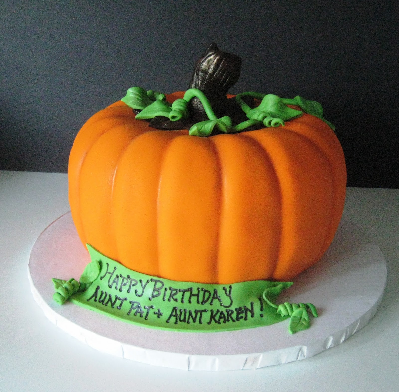 Fantastic 10 Halloween Cakes Shaped Like Pumpkins Photo Pumpkin Shaped Personalised Birthday Cards Beptaeletsinfo