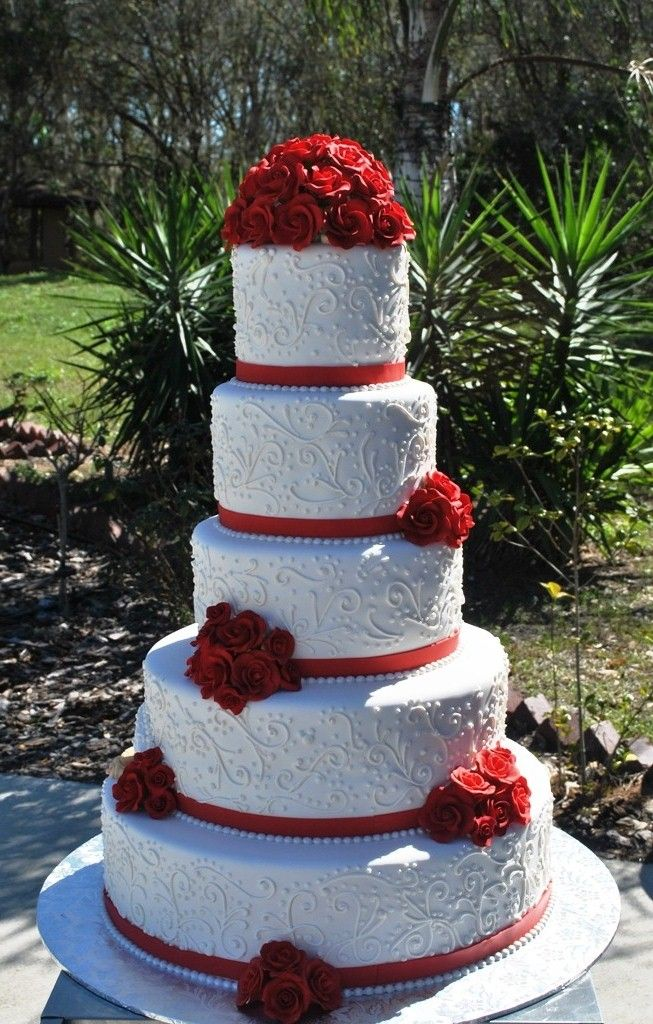 9 red roses with blue and white wedding cakes photo red and blue red and white lace wedding cake mightylinksfo