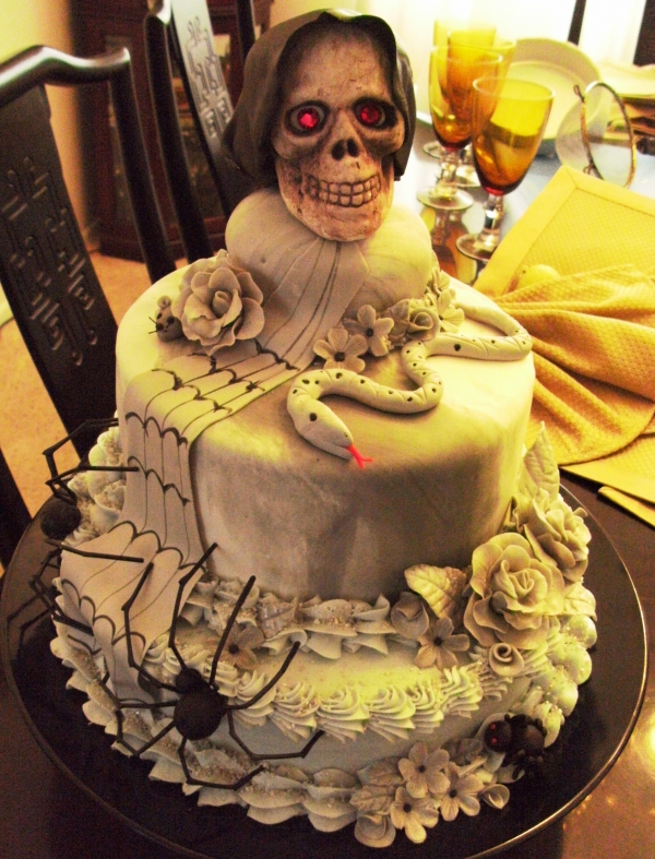 8 Halloween Scary Skull Cakes Photo Scary Halloween Skull Cakes