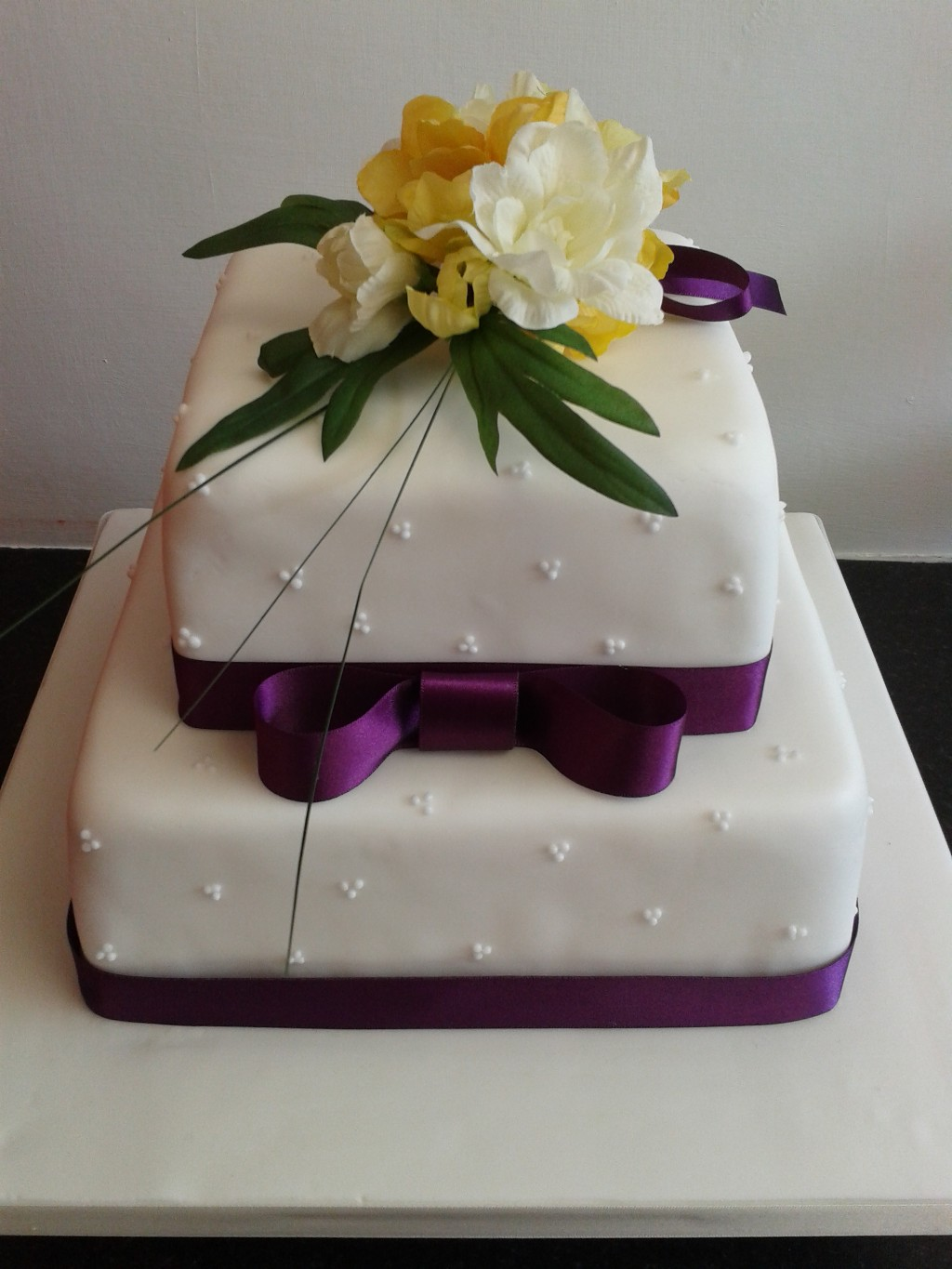 11 Small Simple 2 Tier Wedding Cakes Photo Simple 2 Tier Wedding