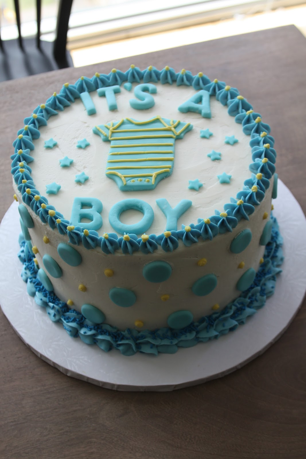 Homemade Boy Baby Shower Cakes