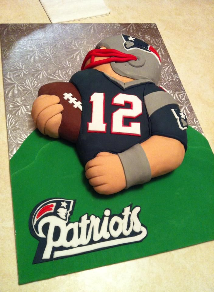 6 Tom Brady Football Birthday Cakes Photo Tom Brady Birthday Cake