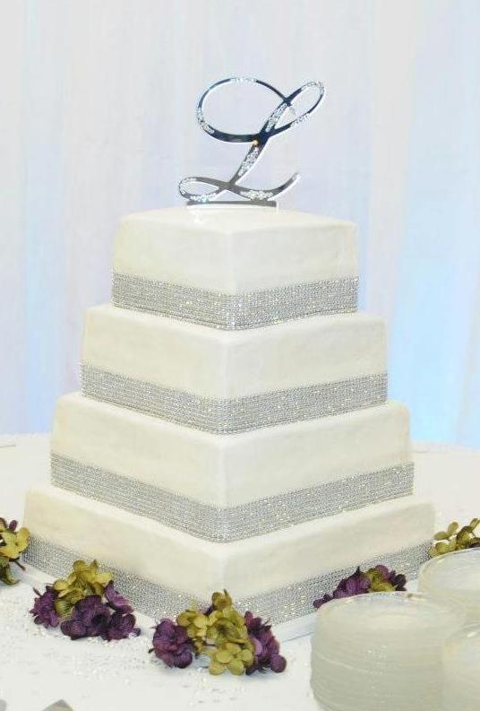 7 4 Tier Square Wedding Cakes Photo - 4 Tier Square Wedding Cake, 4 ...