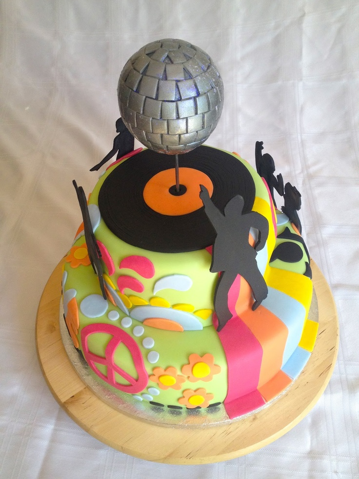 11 1970s Disco Theme Cakes Photo 70s Birthday Cake Ideas 70th
