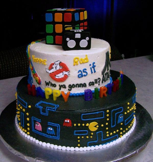 10 80s Happy Birthday Cakes Photo