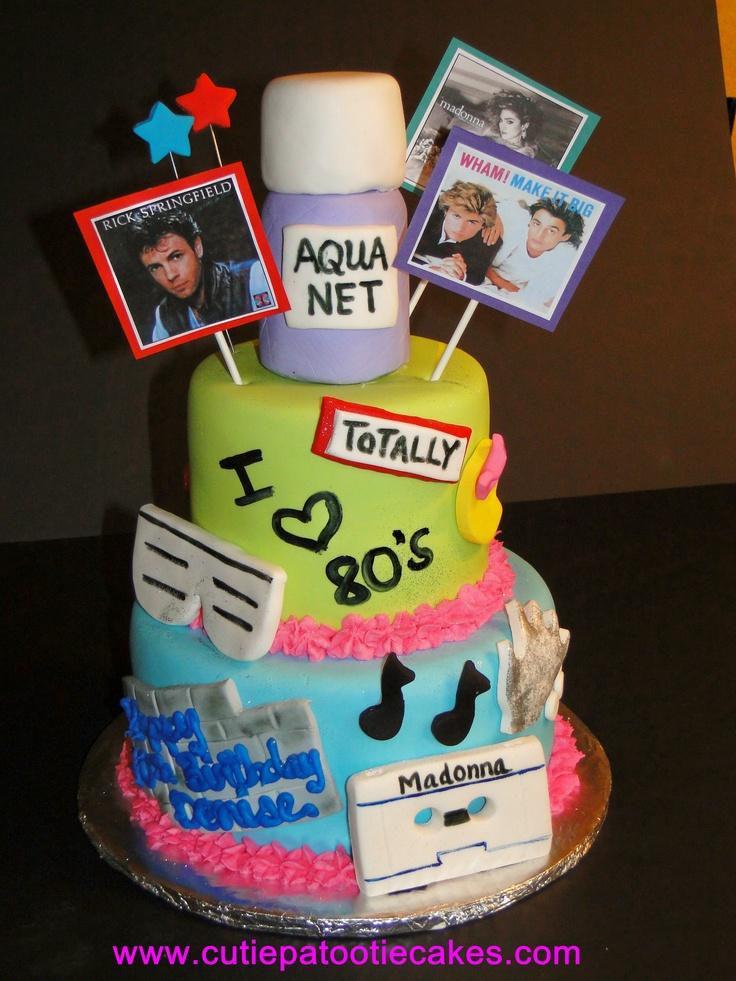 Outstanding 10 80S Happy Birthday Cakes Photo 80S Birthday Cake 80S Birthday Cards Printable Riciscafe Filternl