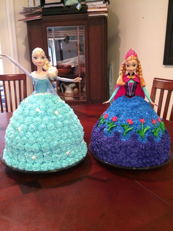 Anna And Elsa Birthday Cake Ideas