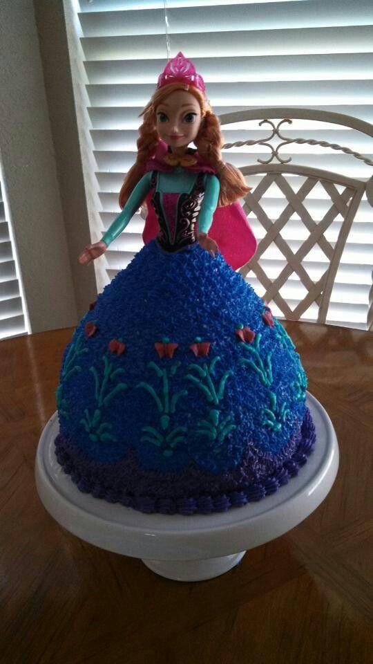 11 Anna From Frozen Birthday Cakes Photo Frozen Anna Doll Cake