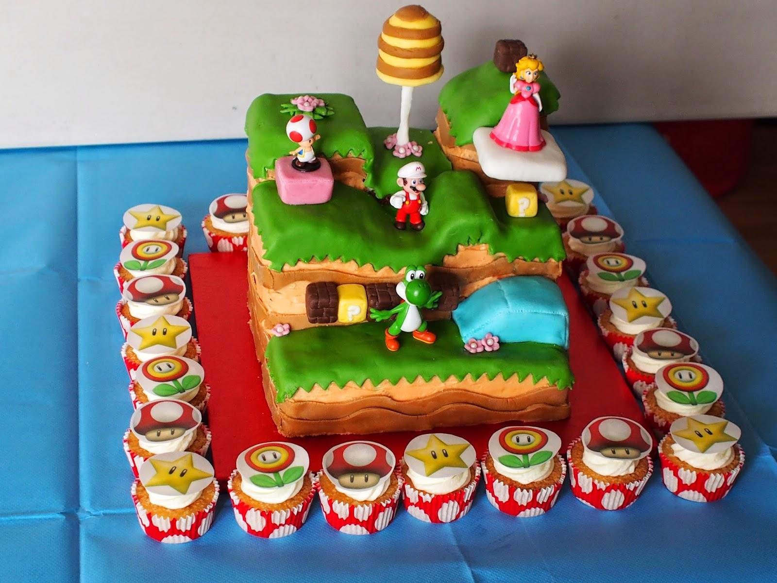 9 Hard Cakes Super Mario 3d World Photo Birthday Cake Super Mario