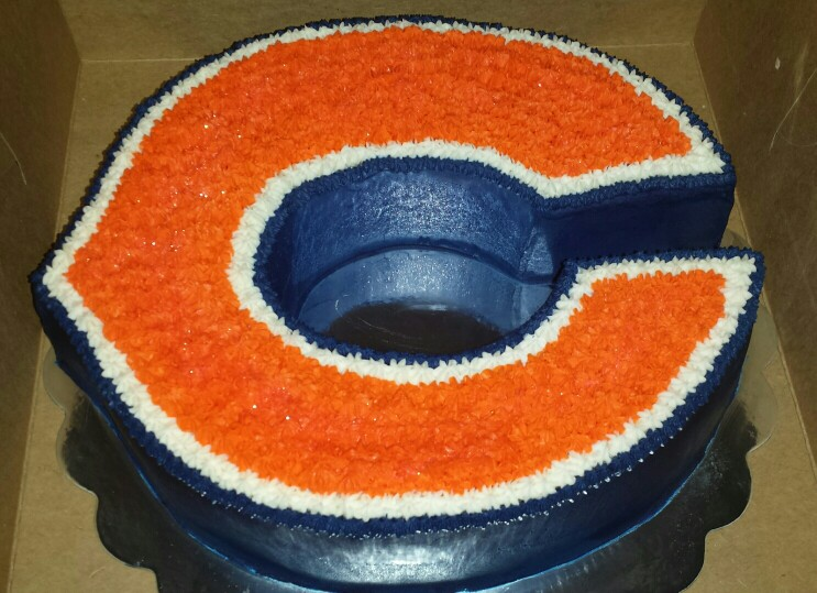 Terrific 8 Chicago Bears Cake And Cupcakes Ideas Photo Chicago Bears Funny Birthday Cards Online Fluifree Goldxyz