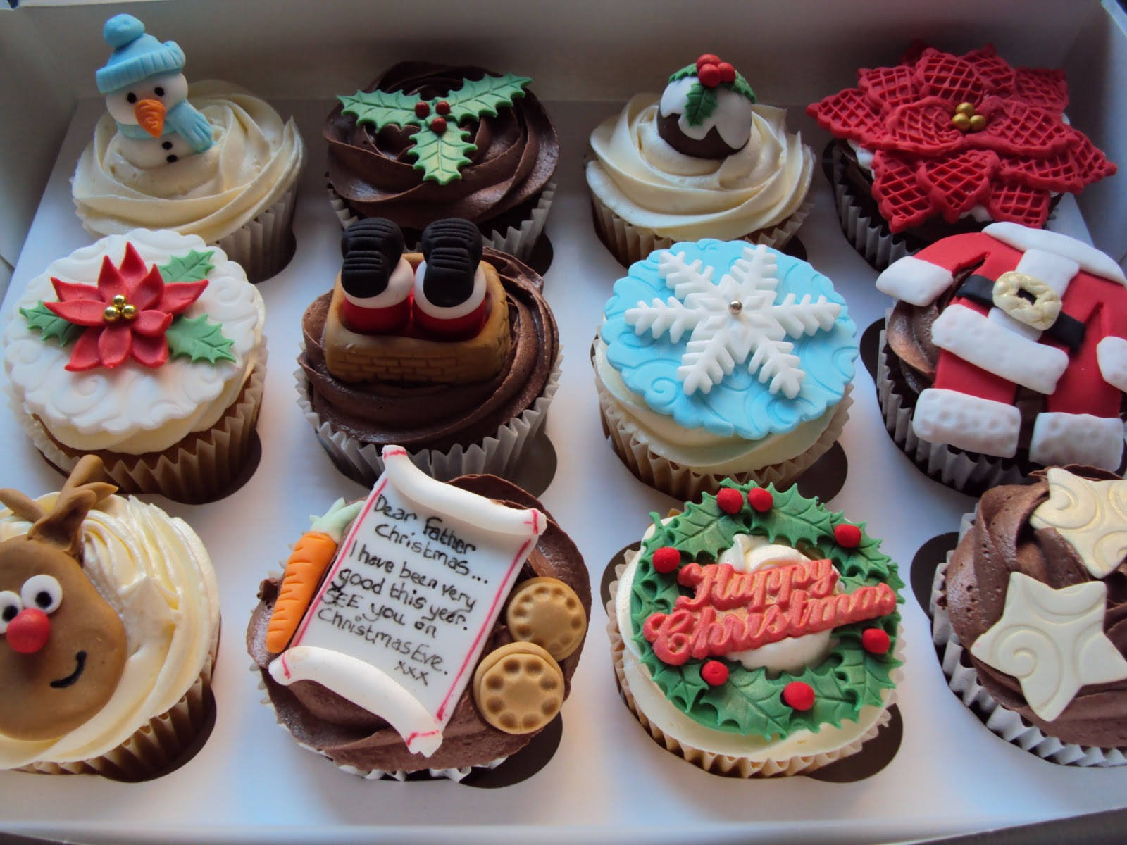 christmas cupcake designs