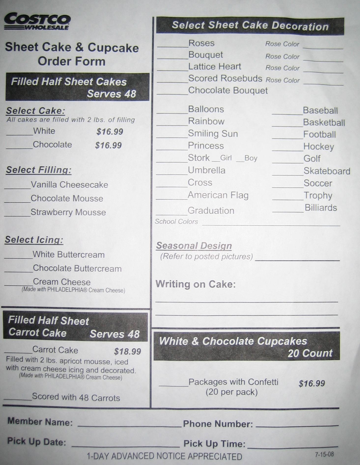 Costco Deli Order Form Timiznceptzmusic