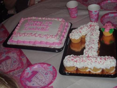 Cupcake Cakes Shaped Like Numbers