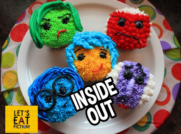 10 Inside Out Theme Cupcakes Photo Disney Pixar Inside Out