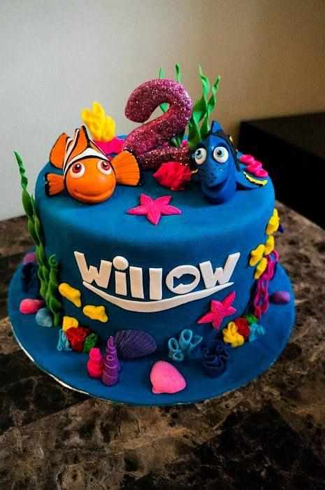 11 Finding Dory Birthday Cupcakes Photo Dory Finding Nemo Birthday