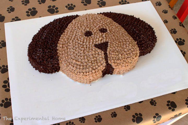 Easy Dog Shaped Birthday Cake