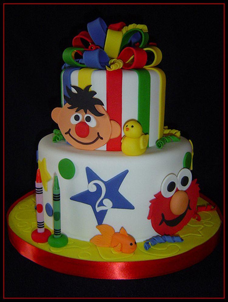8 Elmo Birthday Cakes Number 2 Photo