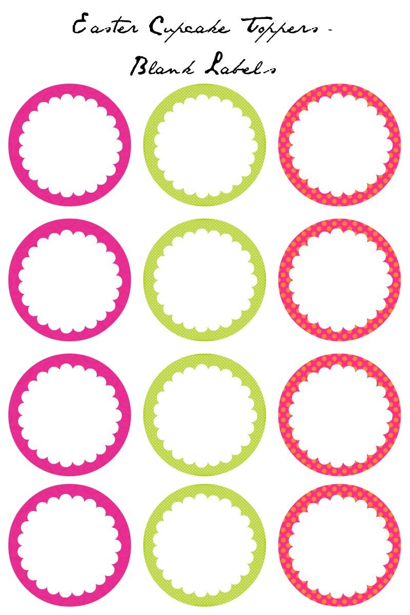 Free Printable Cupcake Topper Templates