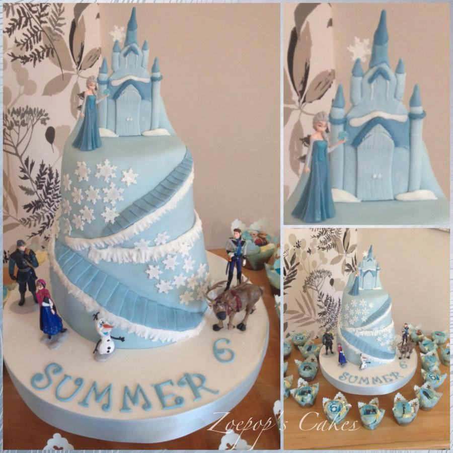Magnificent 13 Movie Themed Cakes Frozen Castle Photo Frozen Castle Cake Funny Birthday Cards Online Overcheapnameinfo