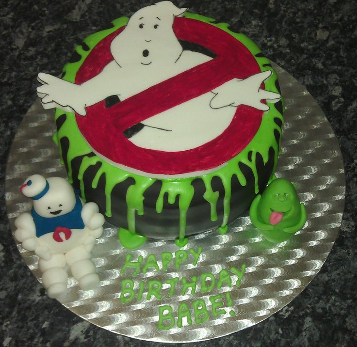 Fine 11 Ghostbusters Themed Cakes Photo Ghostbusters Cake Funny Birthday Cards Online Alyptdamsfinfo