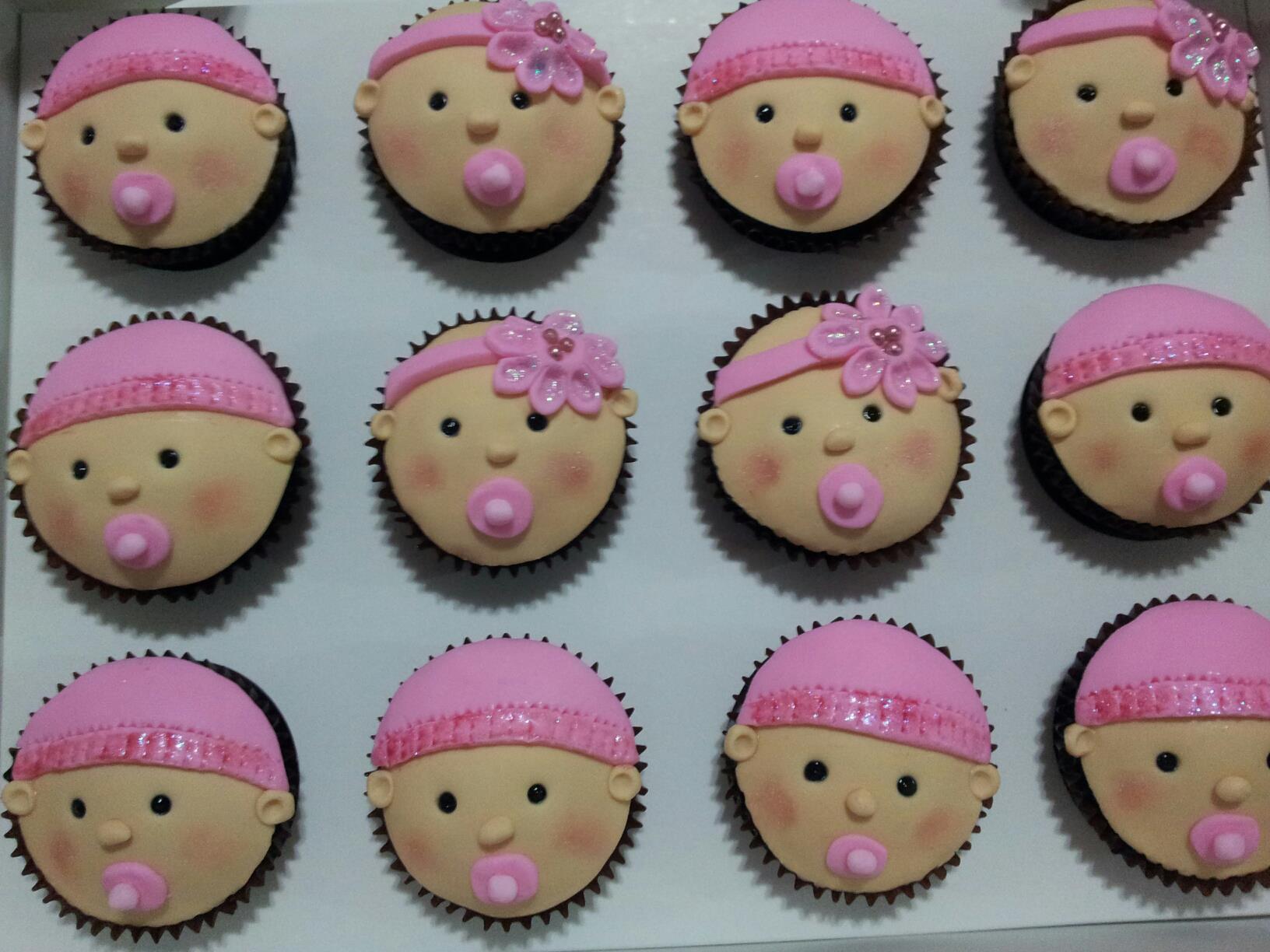 10 Cute Baby Shower Cupcakes Photo Girl Baby Shower Cupcake