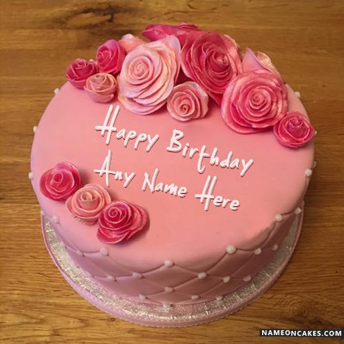 6 Rose The Name On Birthday Cakes Photo Happy Birthday Rose Cake