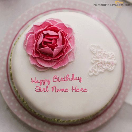 Phenomenal 6 Rose The Name On Birthday Cakes Photo Happy Birthday Rose Cake Birthday Cards Printable Nowaargucafe Filternl