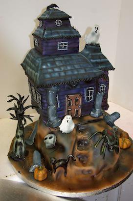 Strange 7 Hounted House Birthday Cakes Photo Haunted House Cake Haunted Funny Birthday Cards Online Inifofree Goldxyz