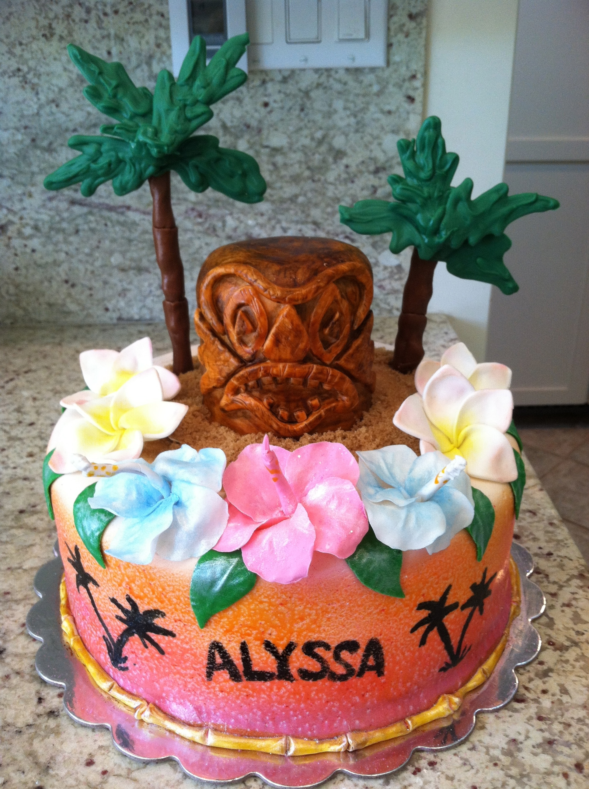 Remarkable 11 Hawaii Cakes For Girls 11Th Birthday Photo Hawaiian Themed Personalised Birthday Cards Petedlily Jamesorg