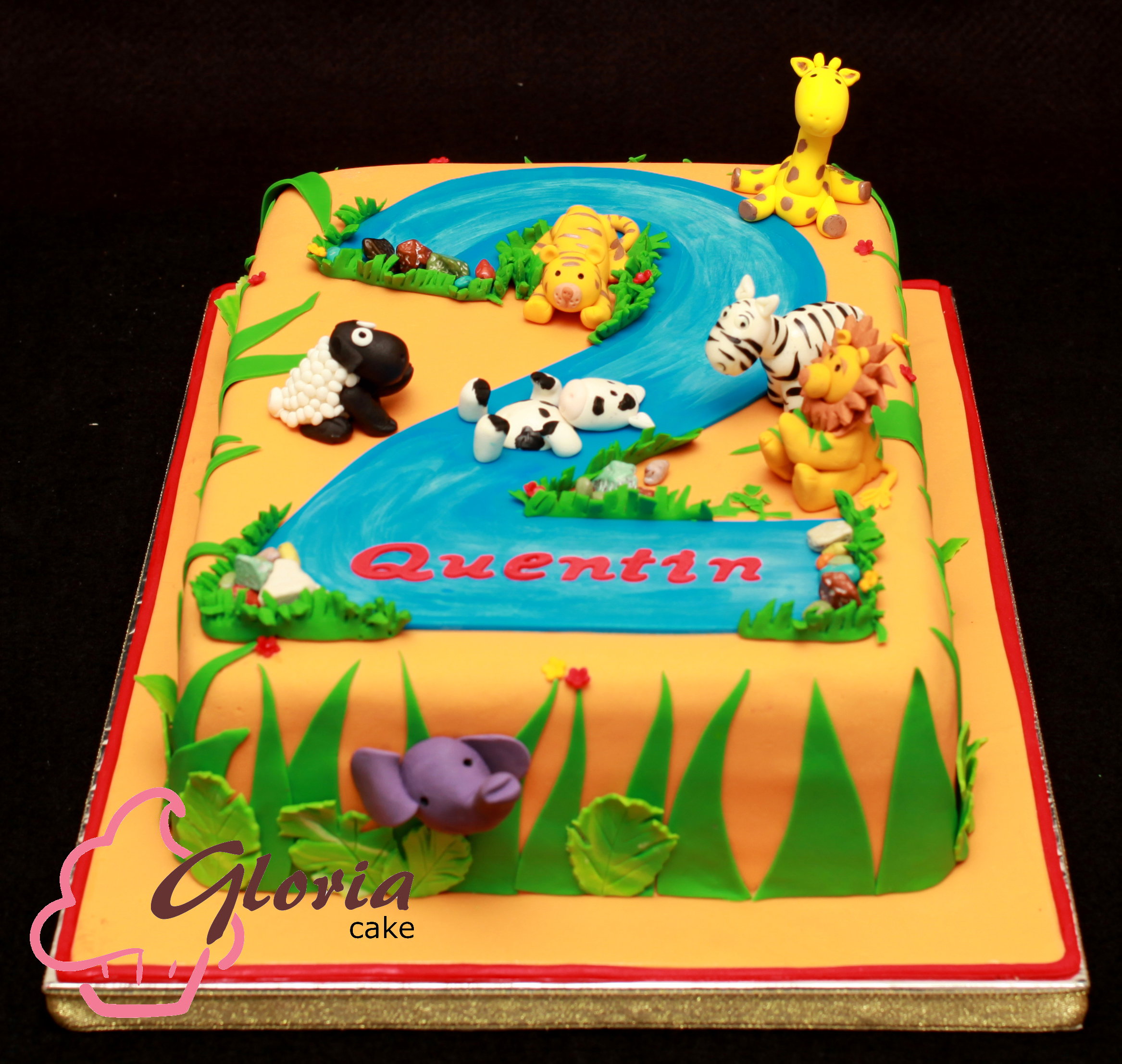 Jungle Theme Birthday Cake