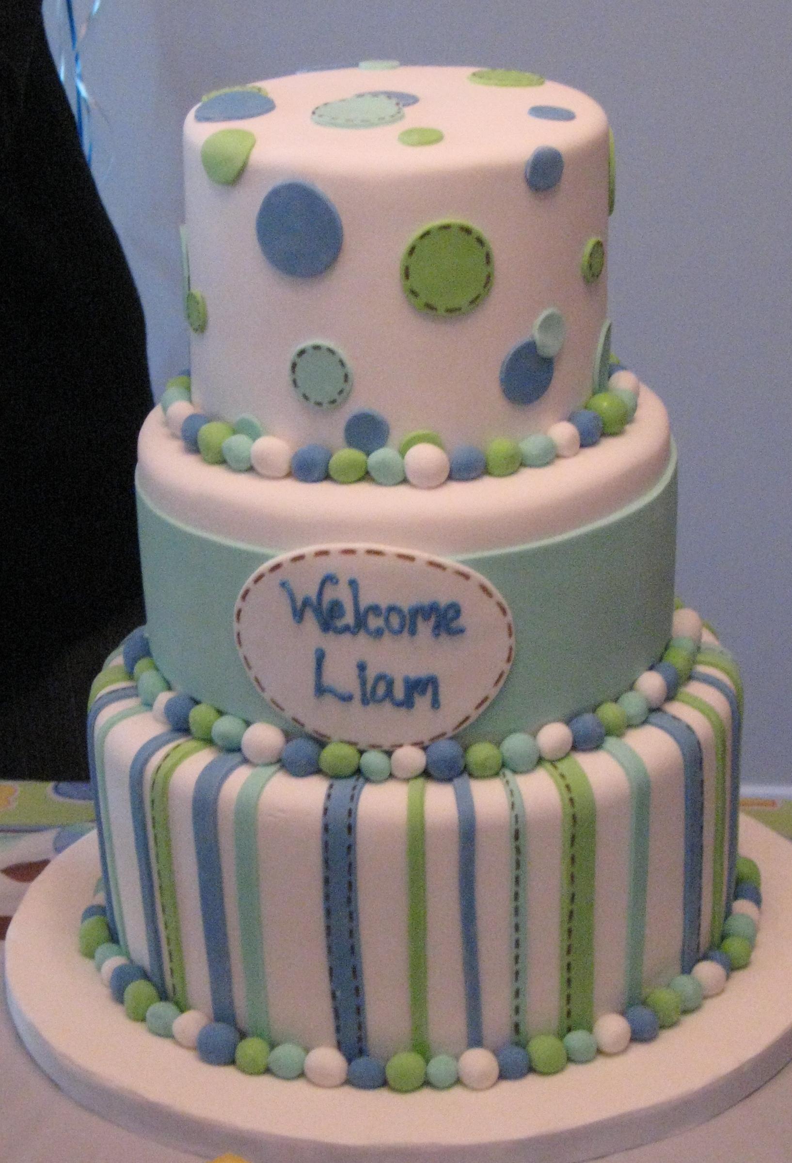 Liamu0027s Baby Shower Cake