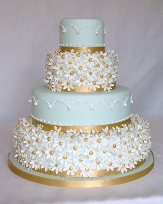 Tiffany Blue And Gold Wedding Cake Wedding Cake From Imacimages Co