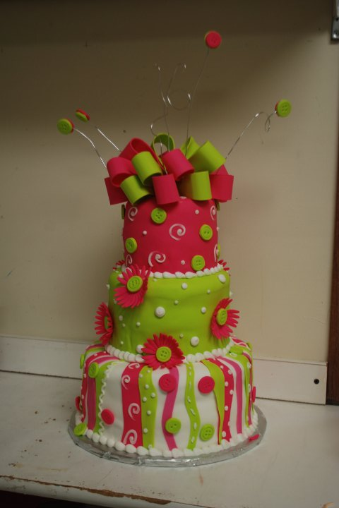 10 Green Girl Cakes For Birthdays Photo Pink And Green Wedding