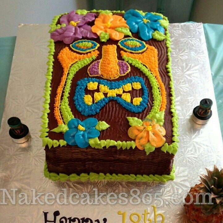 Astonishing 11 Luau Cakes Half Sheer T Photo Luau Theme Birthday Sheet Cake Funny Birthday Cards Online Elaedamsfinfo