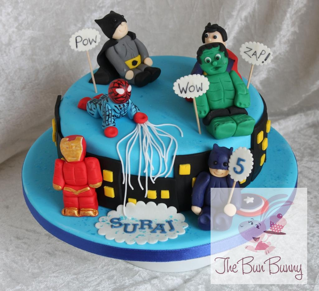 10 Decorated Cakes Marvel Photo Super Hero Cake Avengers Birthday
