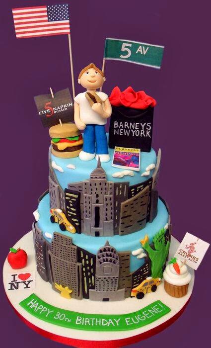 12 New York City Inspired Sheet Cakes Photo New York Themed