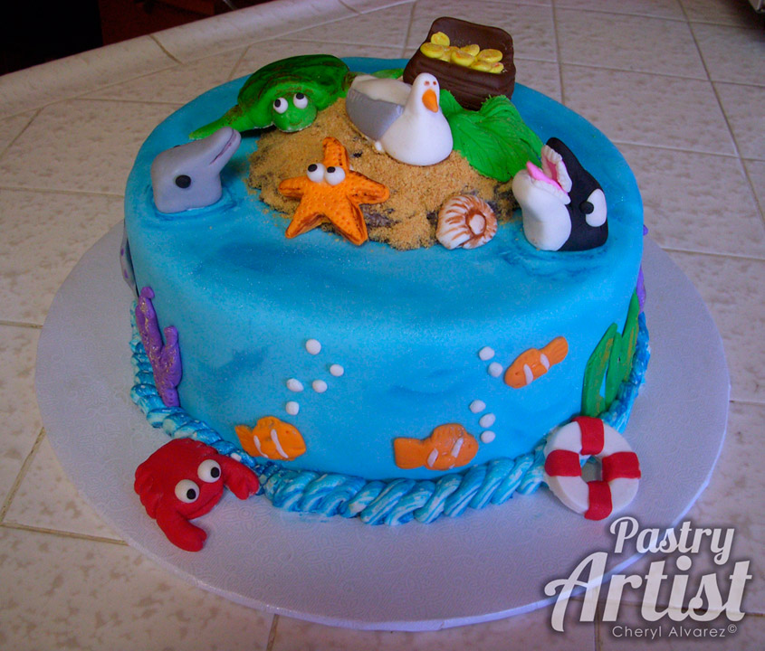 12 Sea Theme Birthday Cakes Photo