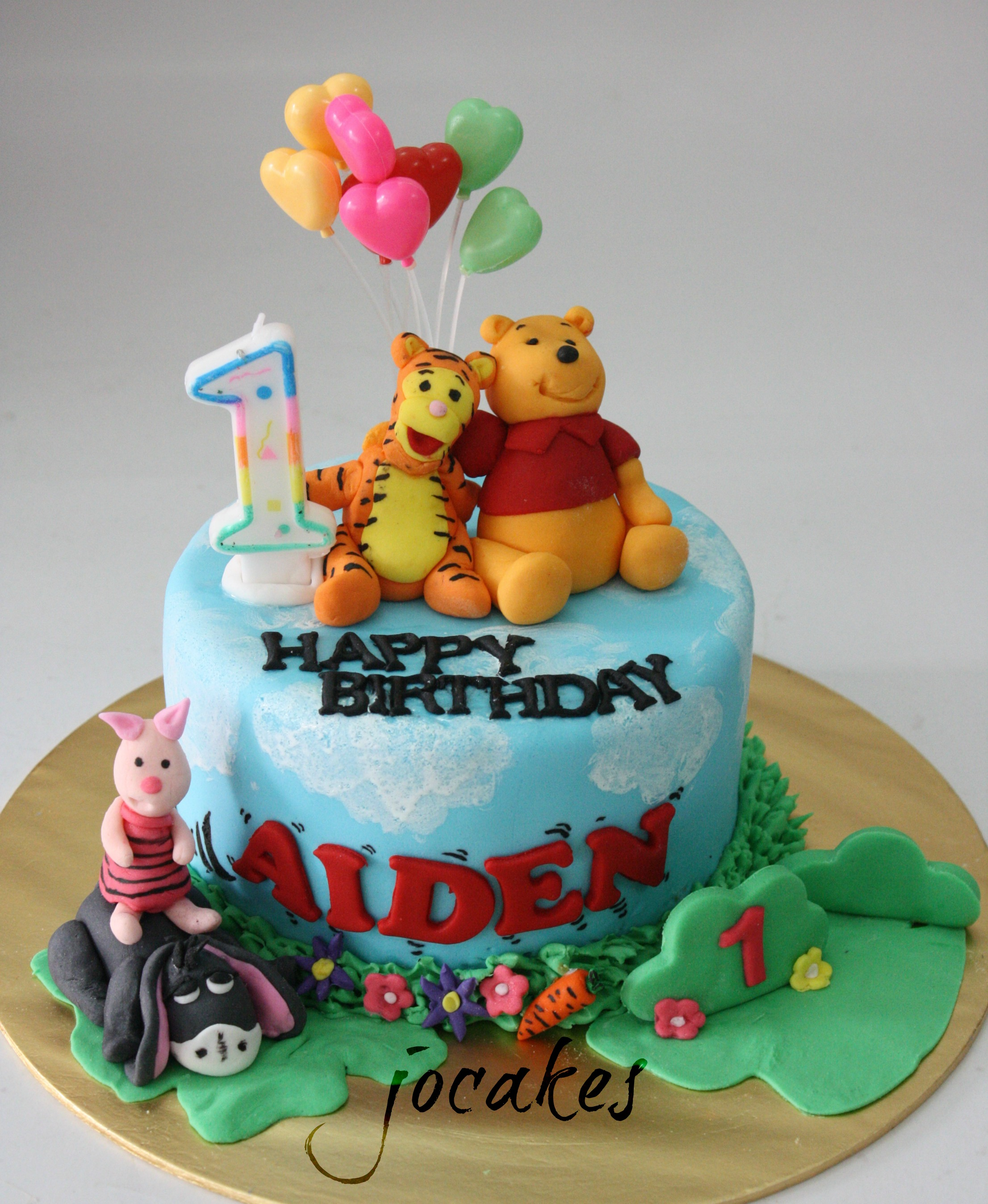 One Year Old Boy Birthday Cake