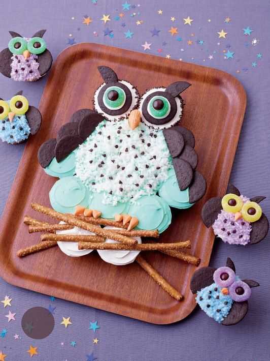 11 Owl Cake Made From Cupcakes Photo Owl Cupcake Cake Tree with