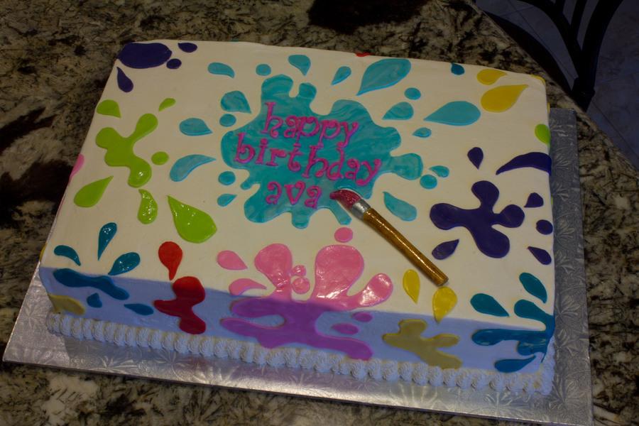 Fine 8 Color Splash Birthday Cakes Photo Paint Splash Bday Cake Personalised Birthday Cards Sponlily Jamesorg